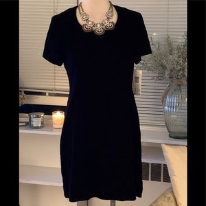 NWT LIZ CLAIBORNE VELVET DRESS SZ 12P